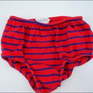 Ralph Lauren Striped Bikini Bottom Red Size 18M
